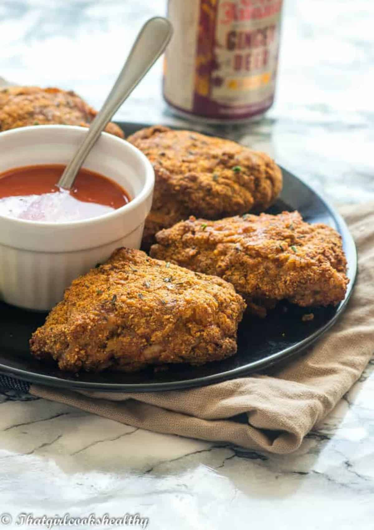 fried chicken with soda