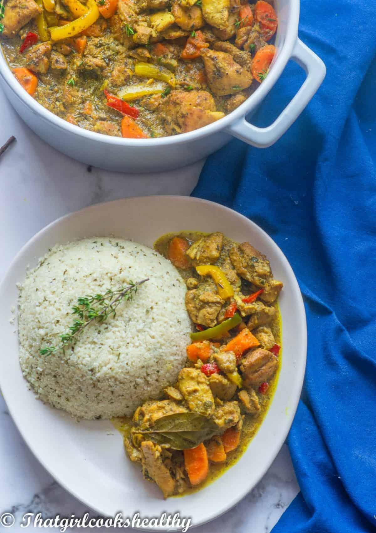 chicken with cauliflower rice
