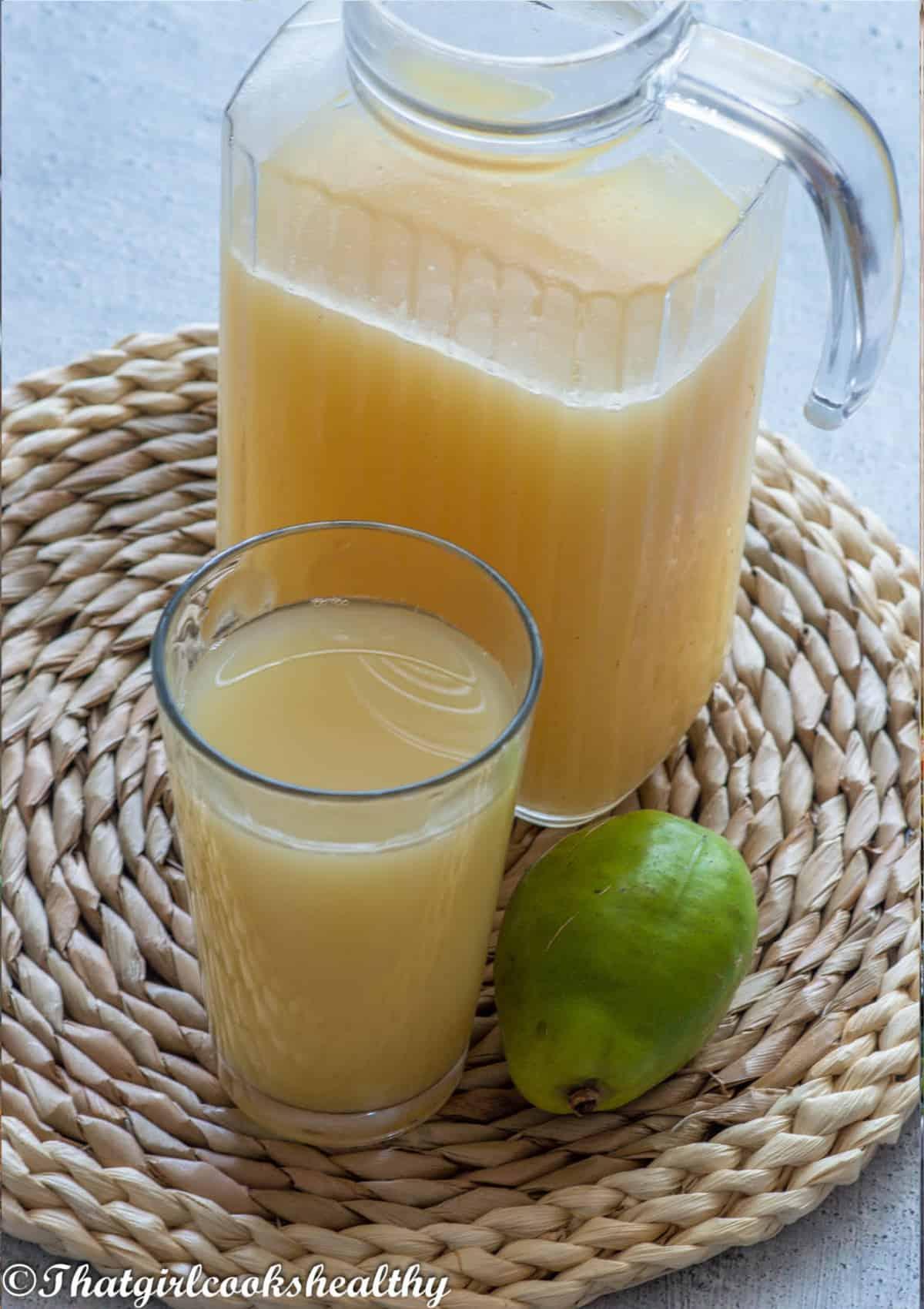 overhead shot of the juice