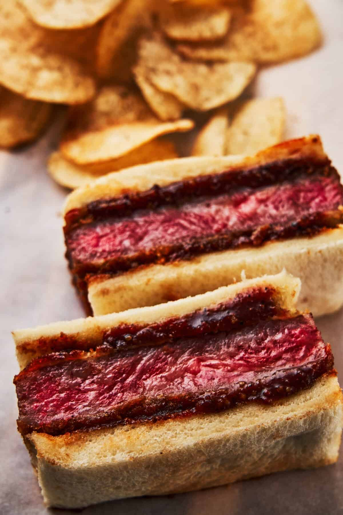 A $200 sandwich in restaurants, this Wagyu Katsu Sandwich is easy to make at home (and costs a lot less). With melt-in-your-mouth beef breaded and fried until crisp, then glazed with a Japanese-style katsu sauce, it's arguably the best sandwich ever!