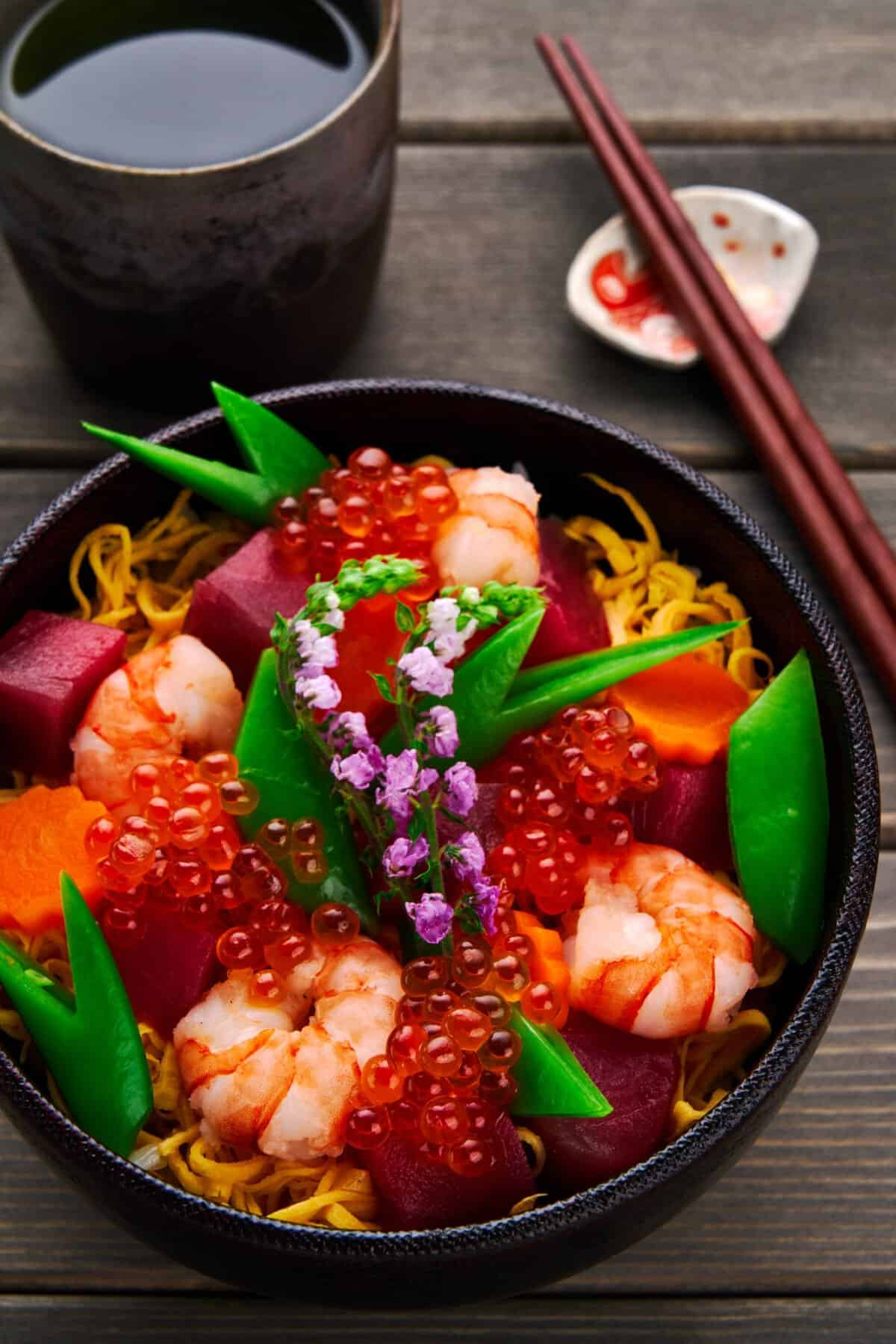 This stunning Chirashi Sushi bowl is easier to make than you'd think.