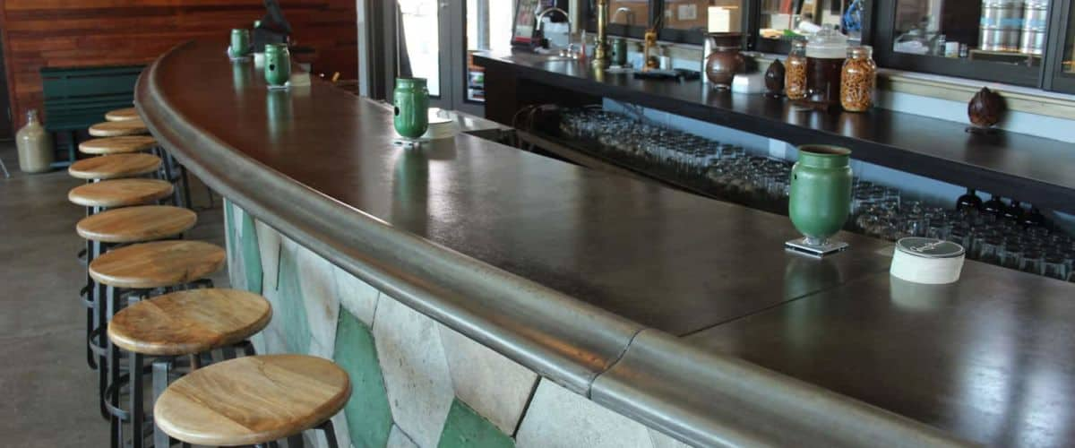 Concrete Countertops with a Radius and Front Edge Profile