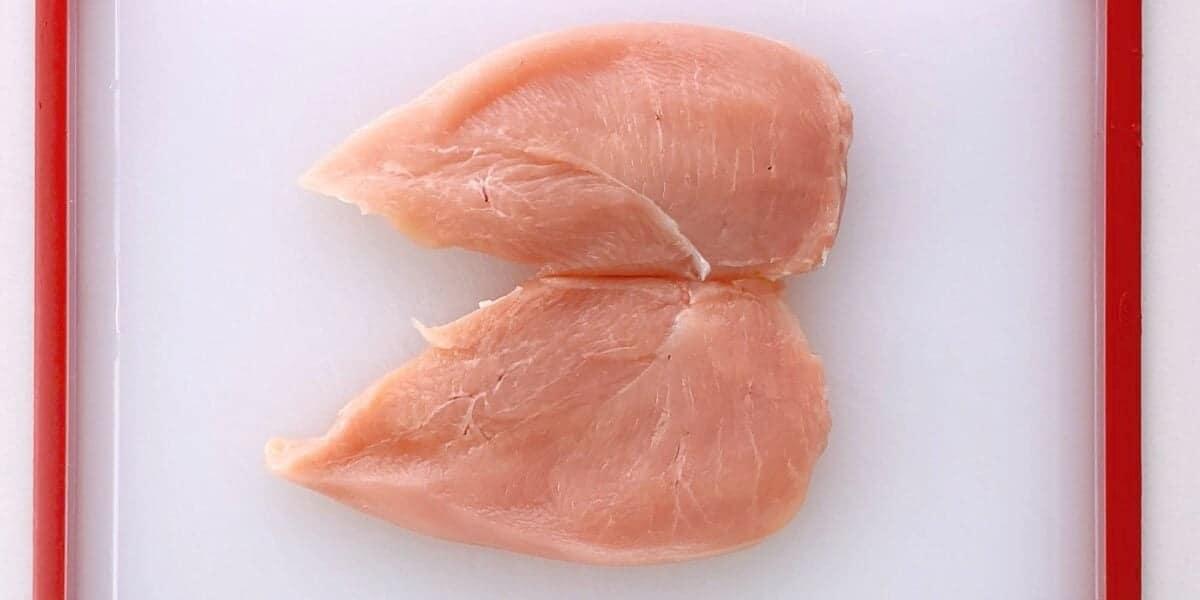 Butterflied chicken breast.