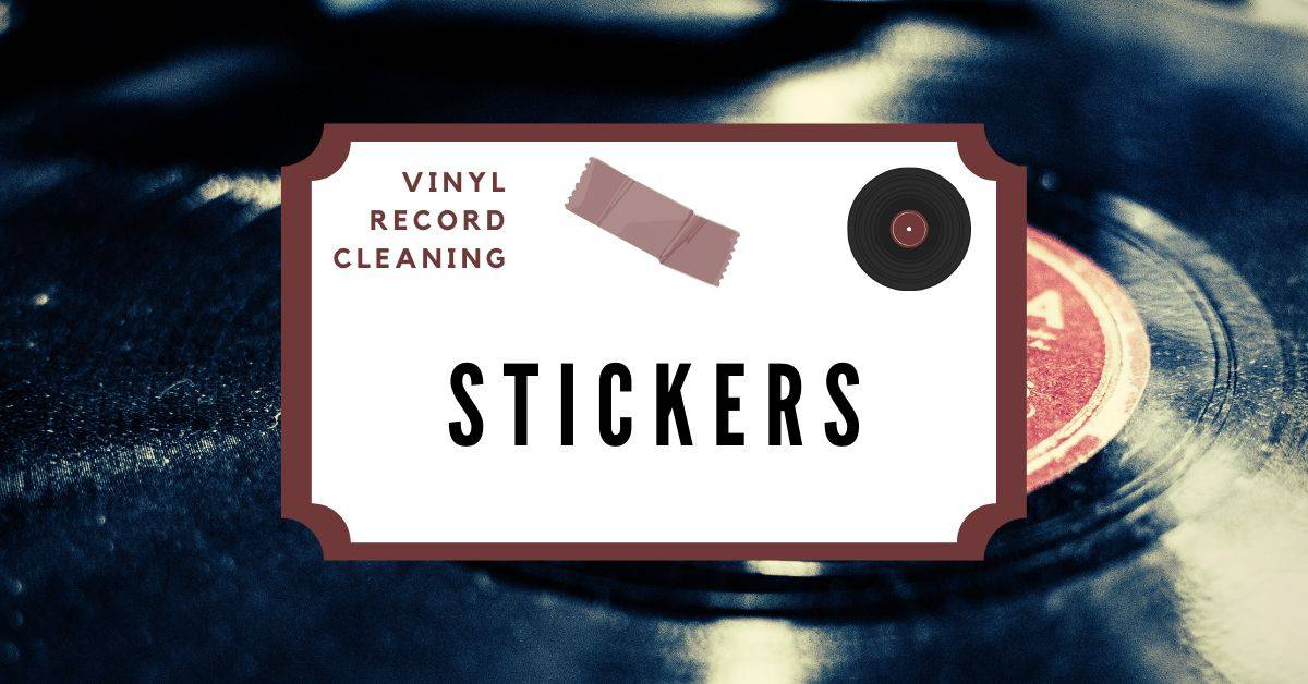 remove stickers from vinyl records