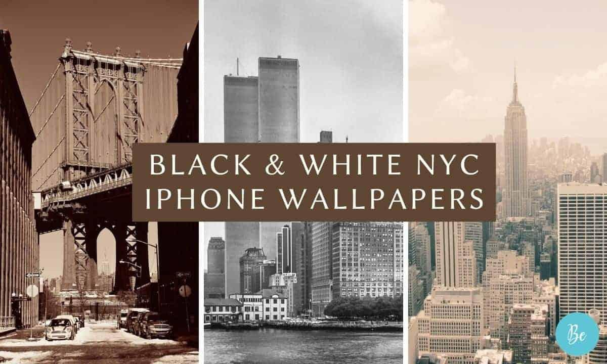 New York skyline Wallpaper black and white