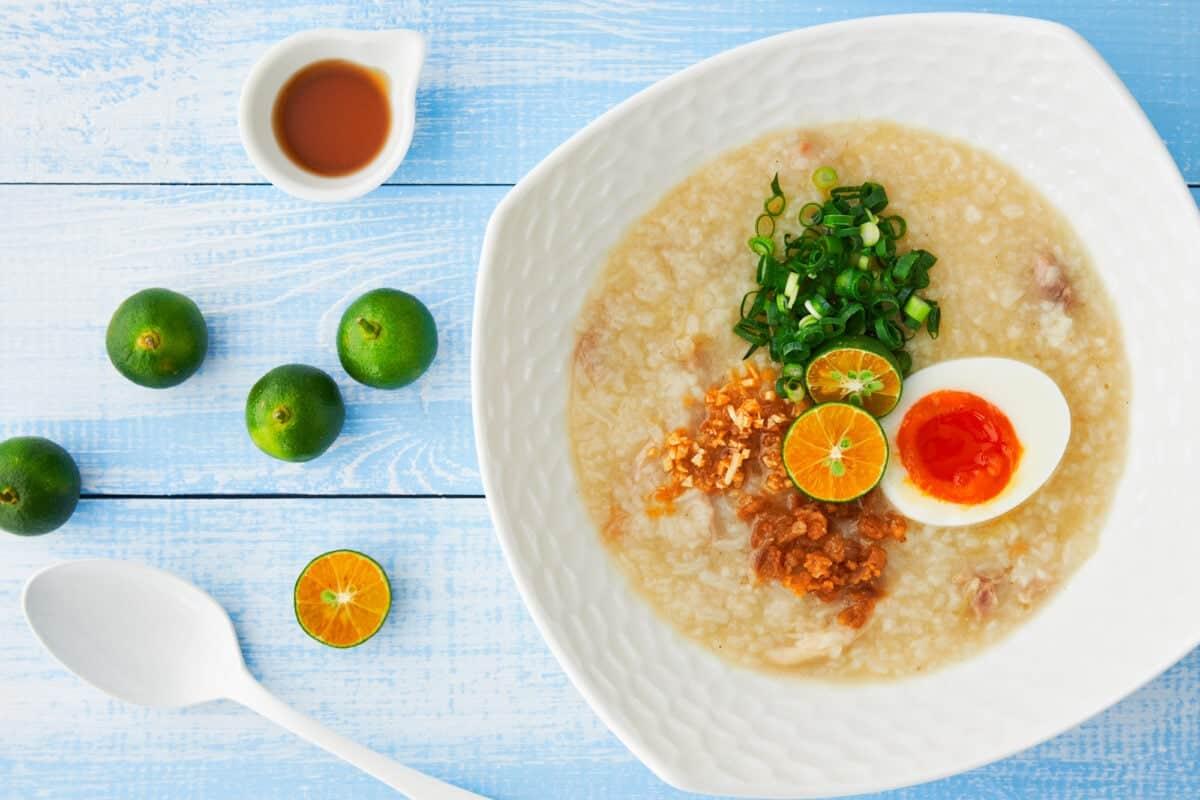 This creamy Filipino chicken and rice porridge(Arroz Caldo) is the ultimate comfort food.