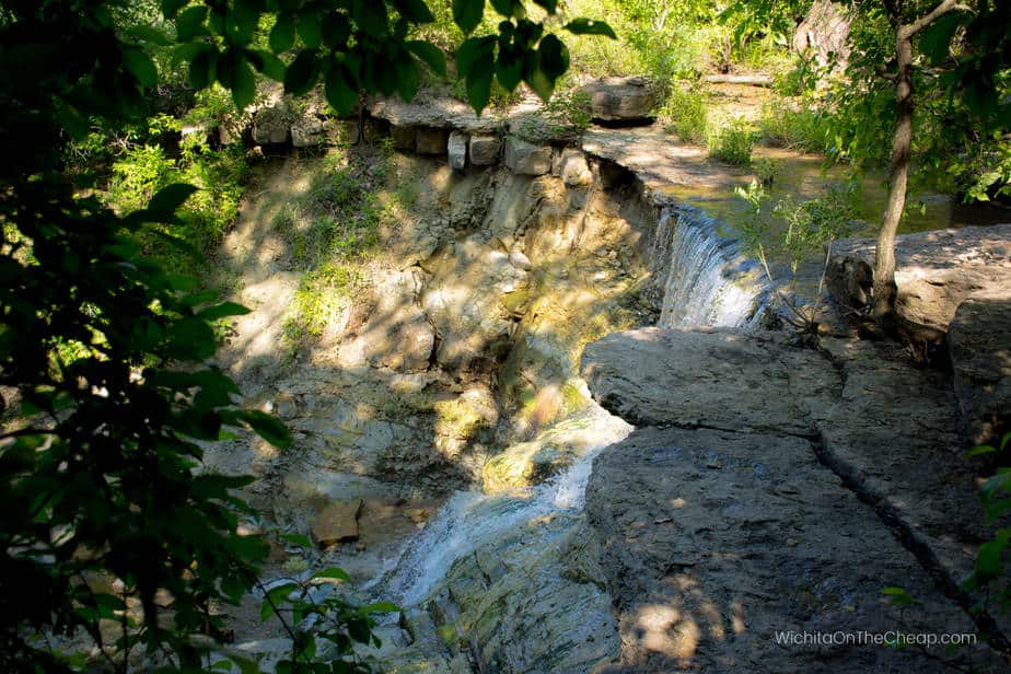 The main waterfall in Chase County waterfalls