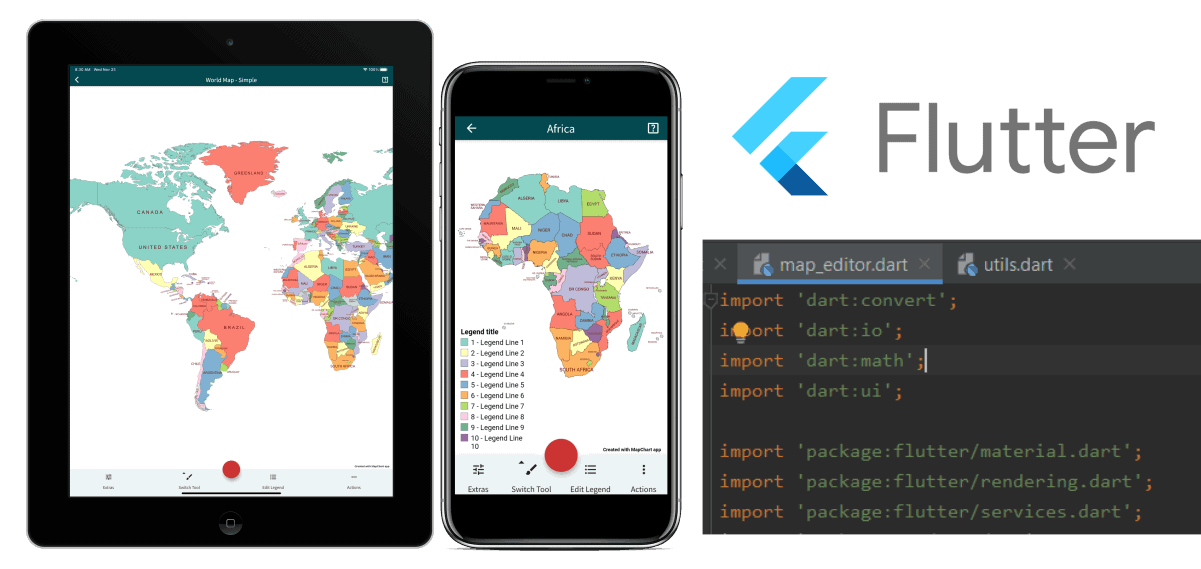developing the MapChart mobile app with Flutter