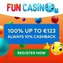 Fun Casino 50 free spins and 200% welcome bonus