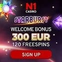 N1 Casino 120 free spins and 300 EUR welcome bonus