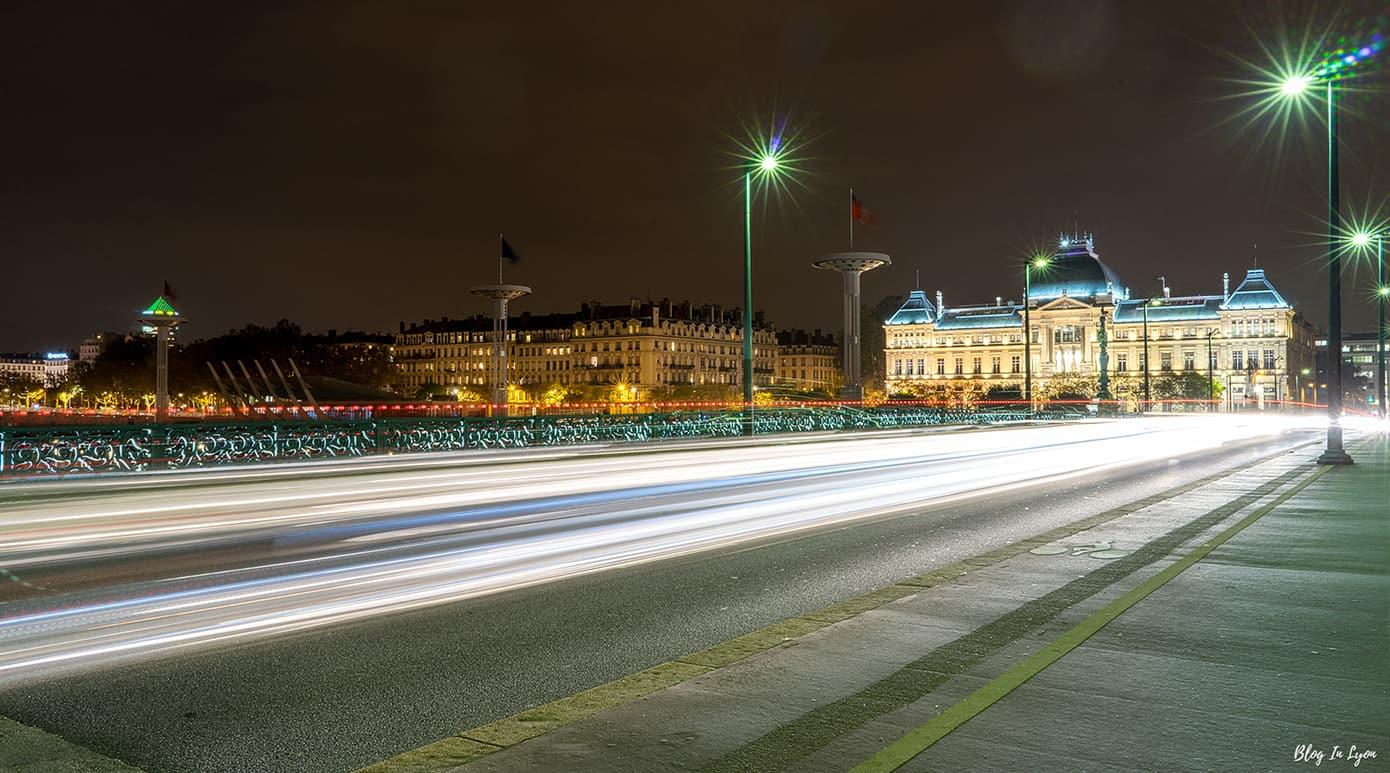 Pont de l'Université de nuit