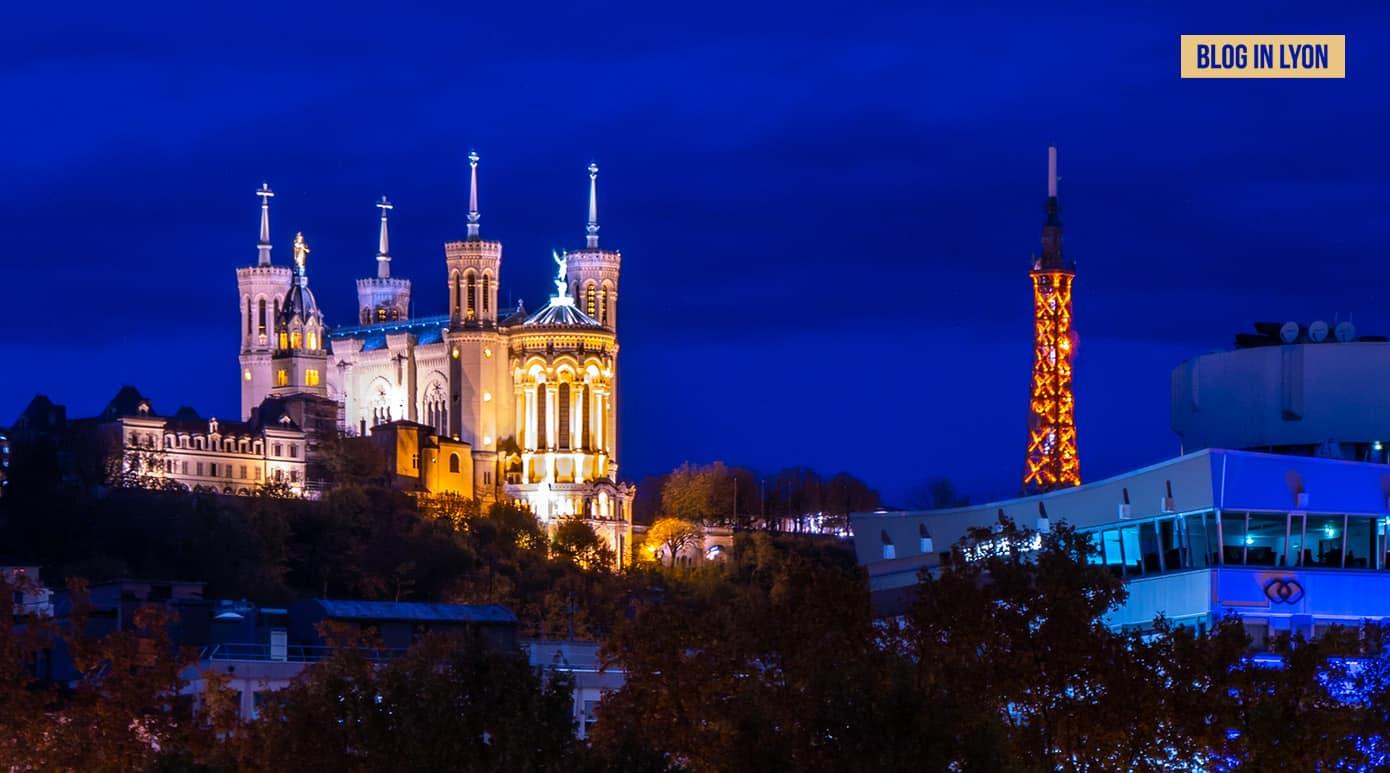 Fourvière à l'heure bleue – Fond d'écran Lyon | Blog In Lyon