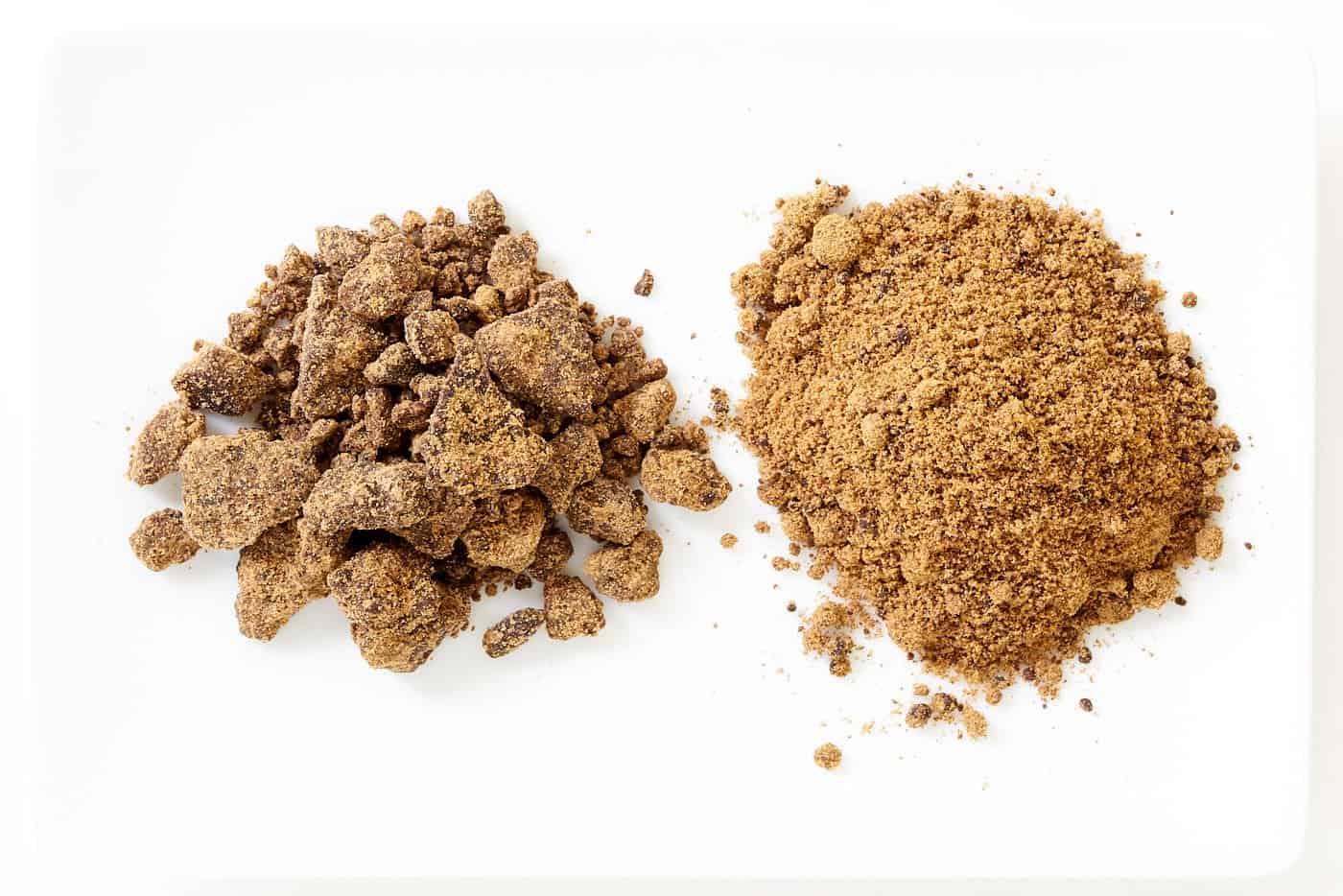 Kokutou unrefined sugar for making kuromitsu (black syrup).