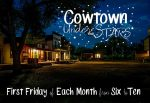 Cowtown at night