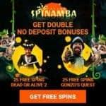 SPINAMBA Casino - 50 free spins bonus no deposit required!