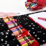travel crayon wallet, travel crayon kit, etsy crayon wallet