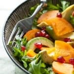 Persimmon and Avocado Salad