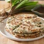 Flaky Chinese-Style Ramp Pancakes