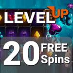 LevelUp Casino 20 free spins bonus code no deposit required
