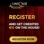 Unique Casino €10 GRATIS exclusive no deposit bonus