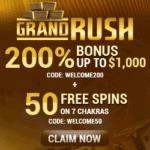 Grand Rush Casino free bonus: USA, New Zealand, Australia