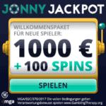 Jonny Jackpot Casino 100 Freispiele + 1000€ Willkommensbonus