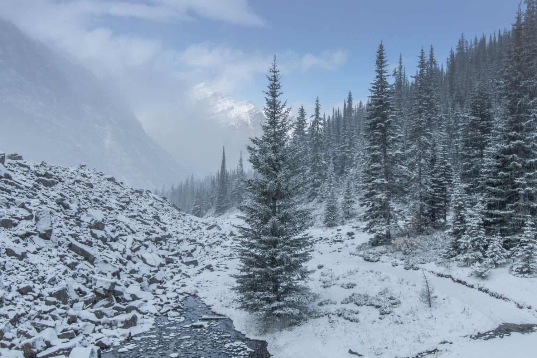 Schneller Wetterumschwung in den Rocky Mountains