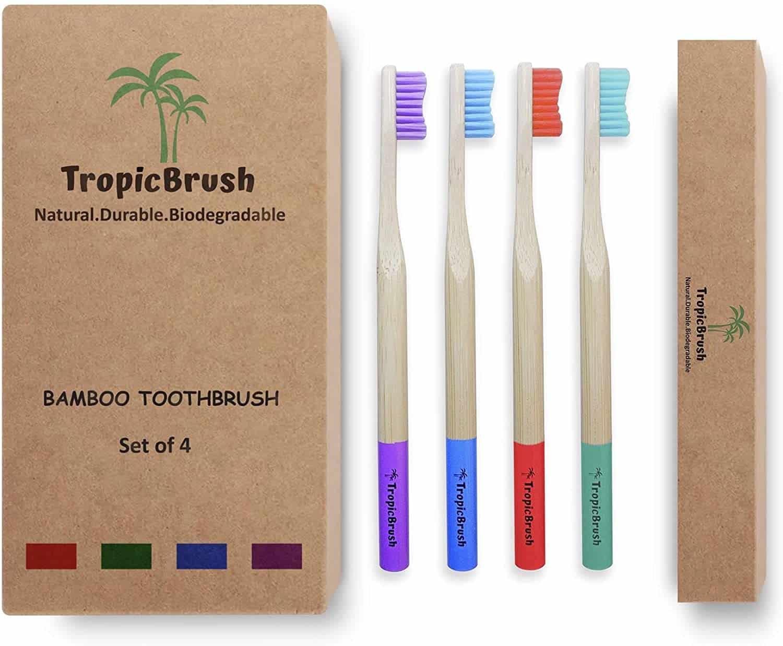 TropicBrush Bamboo Toothbrushes