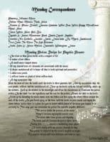 Monday Correspondence magick information page