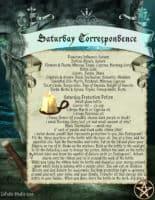 Saturday Correspondence Spell Page