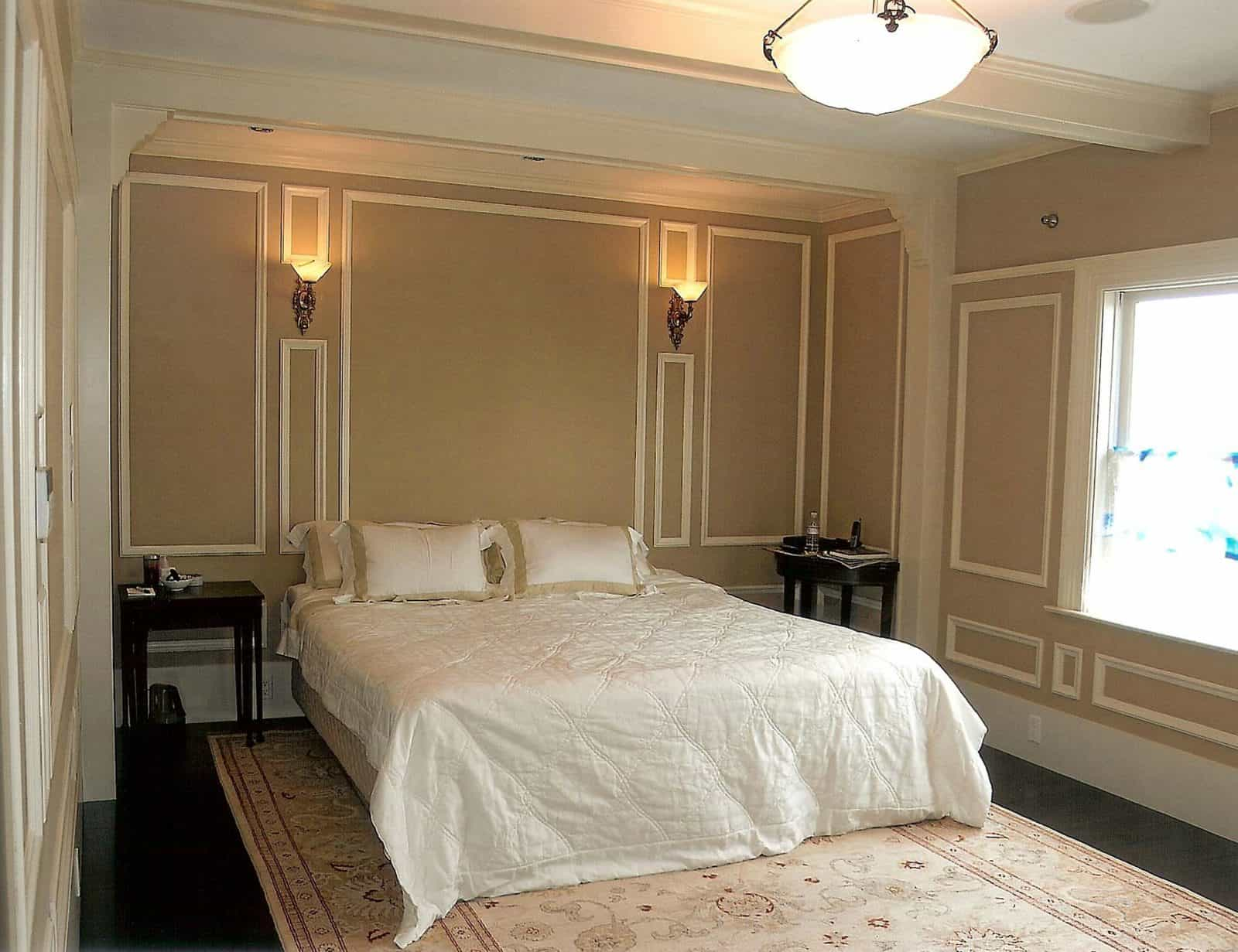 beige wall and white trim color combinations