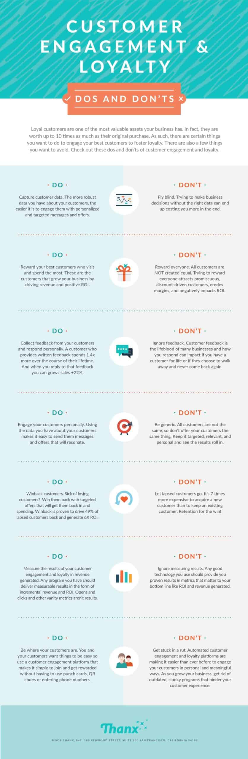 Customer Engagement tips infographic