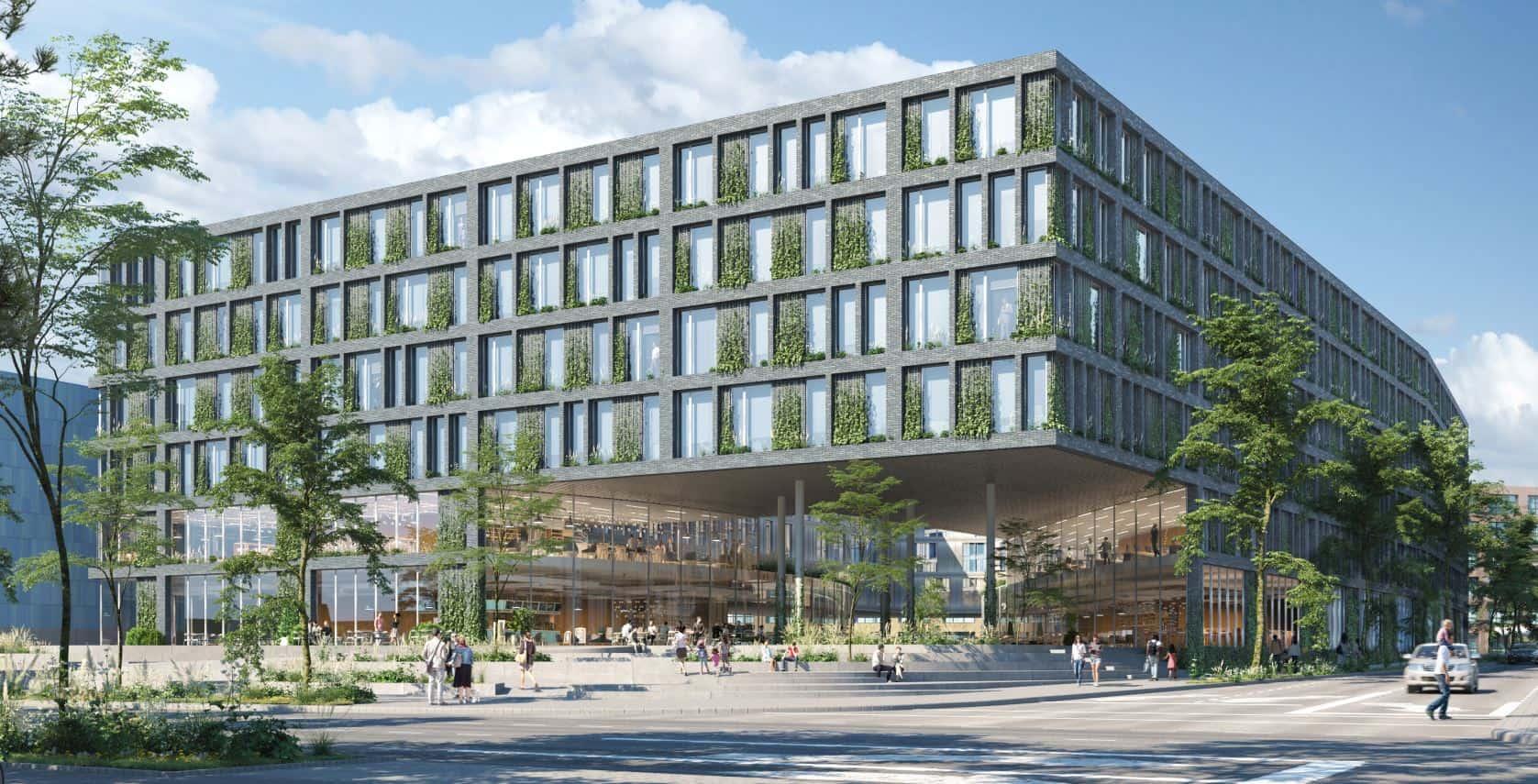 Bild: Wettberb Q20 Stuttgart Rendering Toreingang Süd, Image: Lucianr, Architektur Henning Larsen