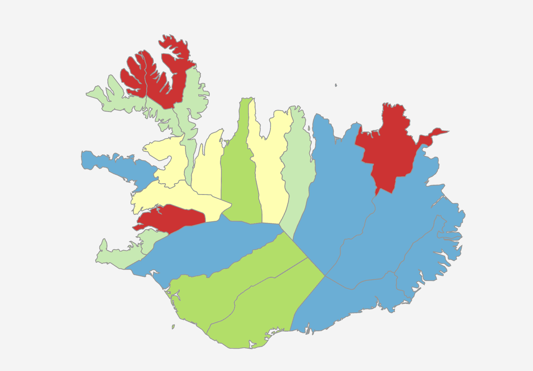 iceland mapchart europe detailed create