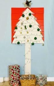 christmas tree for apartment wall