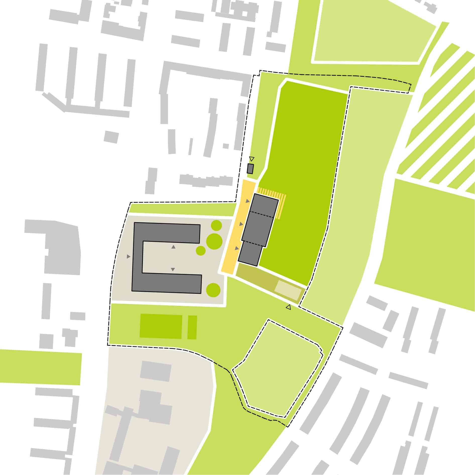 Bild: Piktogramm der Raumaufteilung auf dem Campus Ost