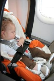 flying with baby, flying with newborn, baby's first flight, car seat on plane, flying with a newborn, flying with a baby, flying with a newborn baby, tips for flying with a newborn