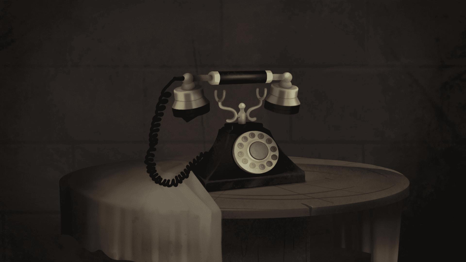 Landline phone - 2D Animation