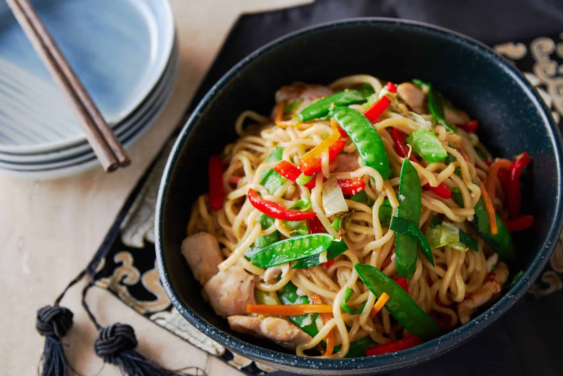 A staple of Chinese-American take-out joints, this Chicken Chow Mein recipe is an easy and delicious one-pan meal.