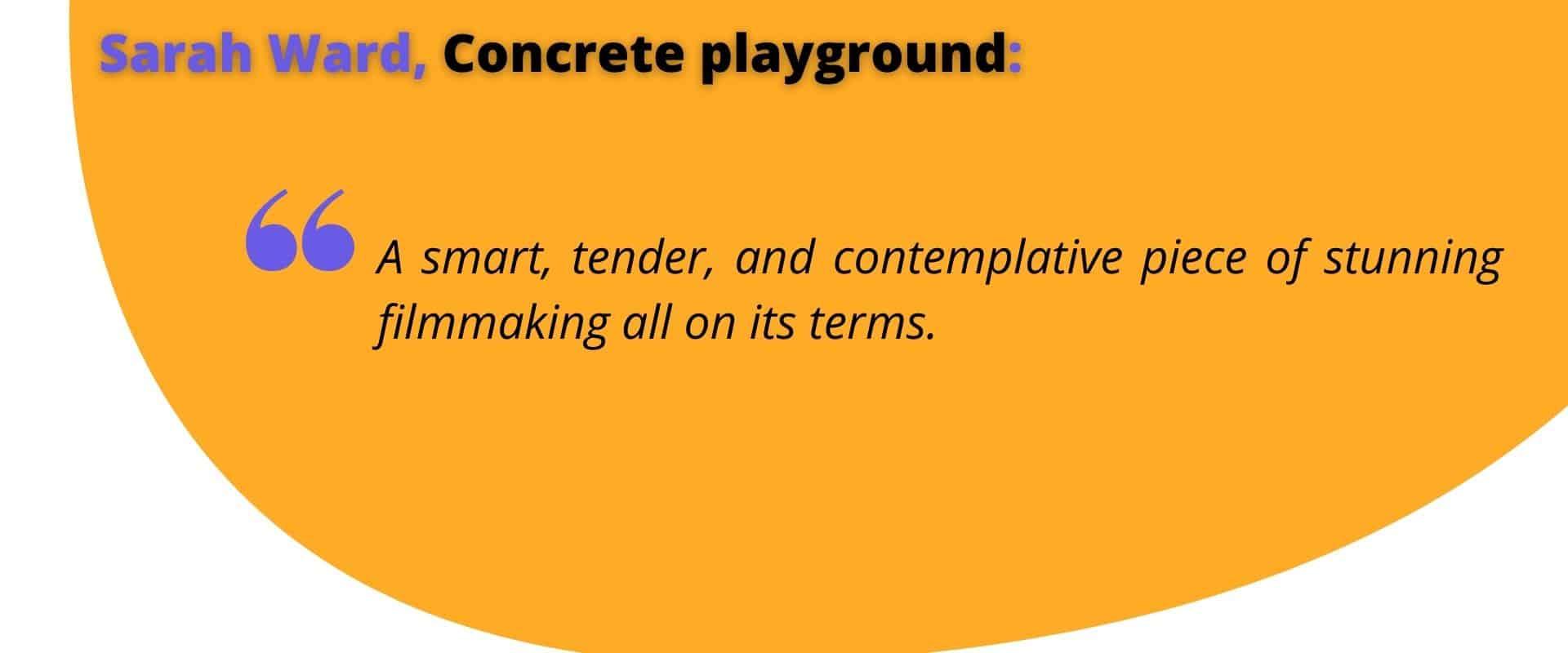 Words by Sarah Ward, Concrete playground