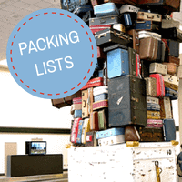 baby travel packing list, travel with baby
