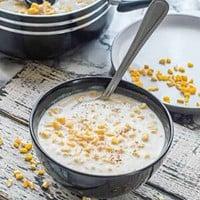 Porridge with a spoon