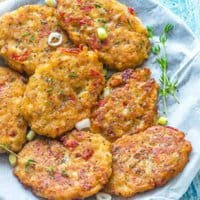 close up of fritters