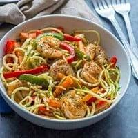 shrimp and noodle bowl