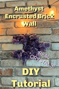 amethyst encrusted brick wall