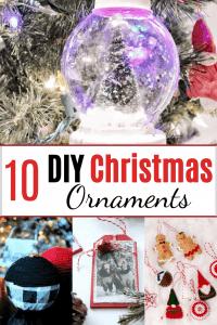 DIY christmas ornament pin image