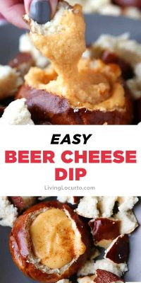 beer cheese dip recipe with pretzel bowls