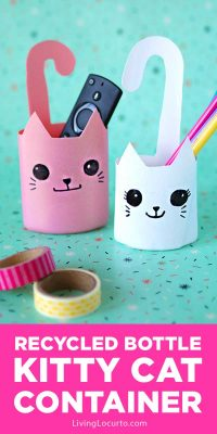 Recycled Bottle Cat Container - Easy DIY Craft