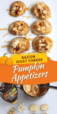 Bacon Goat Cheese Pumpkin Fall Appetizers Recipe