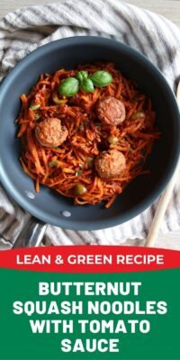 Butternut Squash Noodles Lean and Green Recipe